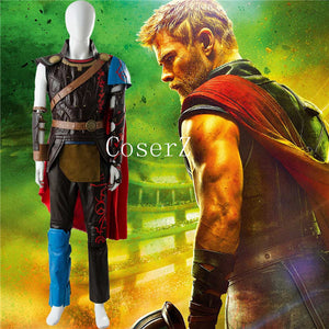 Thor 3 Ragnarok Arena Gladiator Battle Suit Cosplay Costume