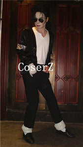 Michael Jackson Tee Billie Jean V-neck T-shirt Cosplay Costumes
