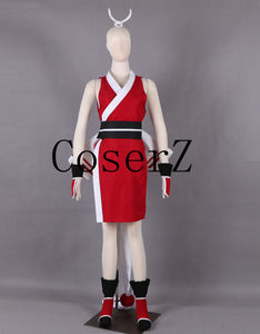 The  The King of Fighters KOF Mai Shiranui Weapon White Folding Fan Game Cosplay Costume