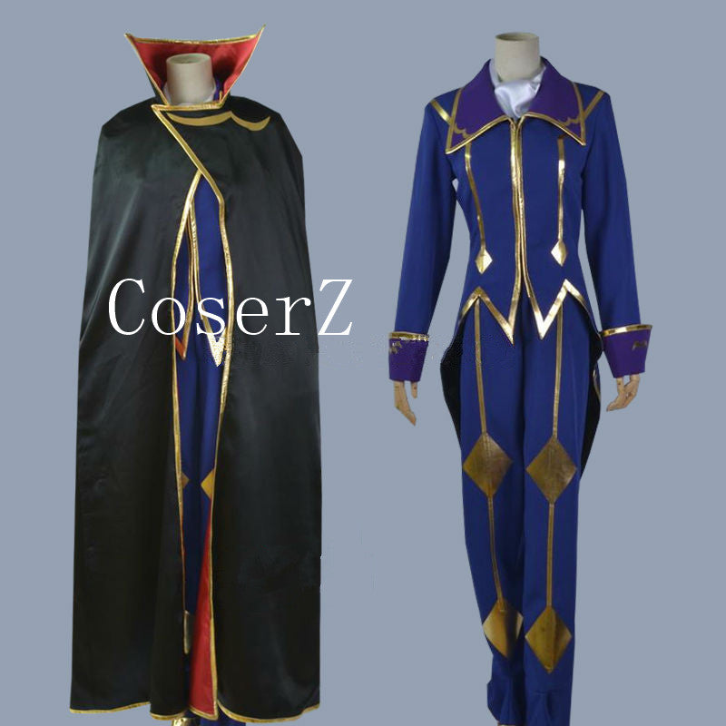 Code Geass Cosplay Lelouch of the Rebellion Zero  Cosplay Costume
