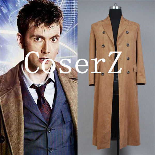 Doctor Who Dr. Brown Long Trench Cosplay Costume