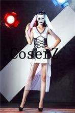 Corpse Bride Sleeveless Outfit Wicca Mask Cosplay Costumes