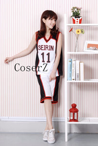 Kuroko no Basuke SEIRIN basket ball uniforms cosplay costume