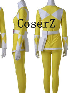 Power Ranger Female Rangers Zyuranger Yellow Ranger Cosplay Costume