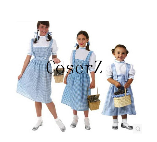 The Wizard of Oz Custom Made Knee Length Dorothy Cosplay Costume