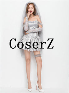 Corpse Bride Ladies Short Cosplay Costumes