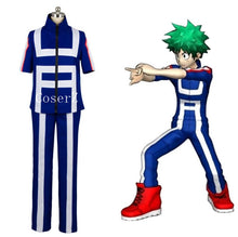 Boku Hero Academia My Hero Academia Izuku Midoriya Training Suit Cosplay Costume