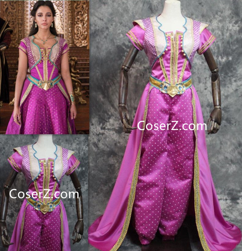 Aladdin 2019 Jasmine Princess Costume For Adults Red Outfit Coserz