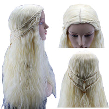 Daenerys Targaryen Dragon Princess Light Wig Game of Thrones Braids cosplay wig