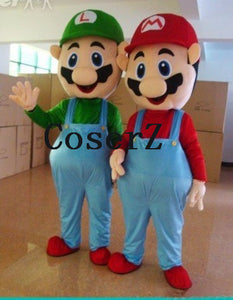 Super Mario Luigi Brothers Mascot Costume Fancy Party Cute Cosplay Costumes