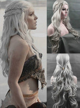Daenerys Targaryen Wig, Silver Wavy Wig Dragon Princess Game of Thrones Cosplay