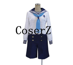 Free! Iwatobi Swim Club Haruka Nanase Sailor Suit Uniform Cosplay Costume