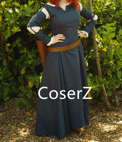 Merida Cosplay Costume, Merida Dress