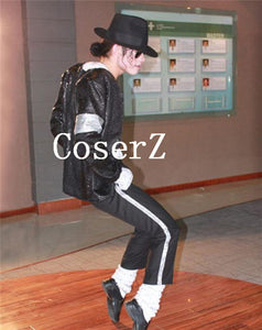 Michael Jackson Cosplay MJ Cos Child Adult Costume 6pcs MJ Billie Jean