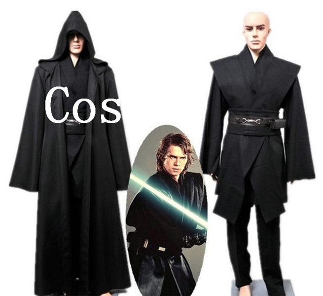 Star Wars Anakin Skywalker Costume Darth Vader Robe Cloak Halloween Cosplay Costume