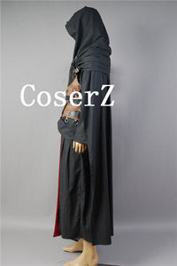 Star Wars Darth Revan Black Outfit Cape Cloak Cosplay Costume