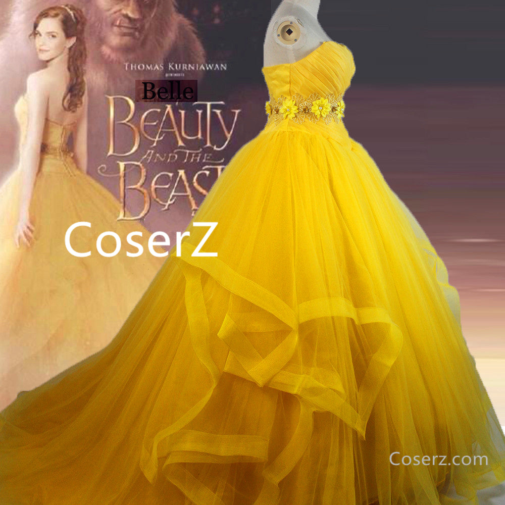 Beauty And The Beast Belle Cosplay Costume Belle Dress Halloween