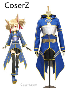Custom-made Sword Art Online ALO Cait Sith Niebieski Anime Cosplay Costume