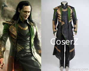 Custom-made Loki Costume Outfit, Loki Cosplay Costume