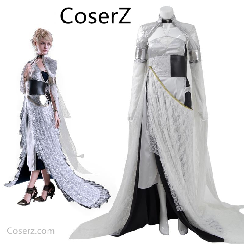 Custom-made Kingsglaive Final Fantasy XV Lunafreya Dress, Lunafreya Nox Fleuret