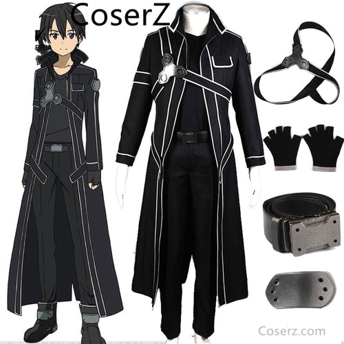 Custom-made Anime Sword Art Online Kirito Cosplay kostium kostiumy