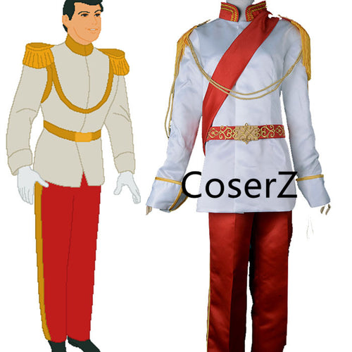 Cinderella's Prince Charming costume, Prince Charming Cosplay Costume Outfit