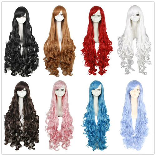 40 inches Blonde Long Curly Cosplay Wig Lolita Anime Wig
