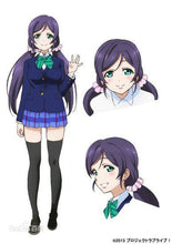 Love Live ! LoveLive! Tojo Nozomi Purple anime cosplay wig hair Heat resistance fibre free shipping
