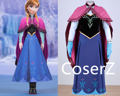 Custom-made Anna Dress, Anna Costume, Anna Cosplay