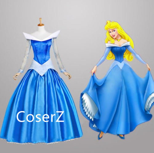 Sleeping Beauty Princess Aurora Blue Dress