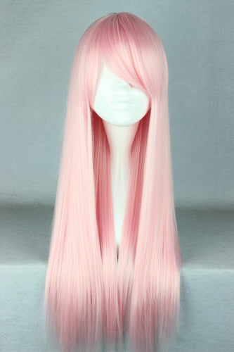 70cm Long Light Pink Beautiful lolita wig Anime Wig