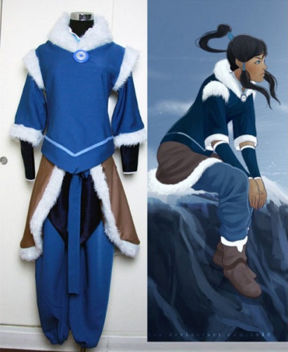 The Legend of Korra Korra Cosplay Costume, Legend of Korra Jacket+Pants+Accessories