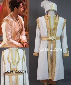 Aladdin 2019 Film New Prince Aladdin Costume for Adult Men Boys