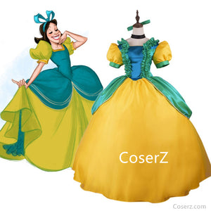Cartoon Cinderellar Evil Sisters Stepsister Drizella Dress, Drizella Costume