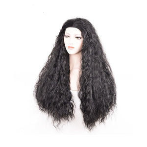 Moana Wig, Moana Cosplay Wig Long Black Brown Curly Hair Halloween Party Cosplay Wig 31.5inch