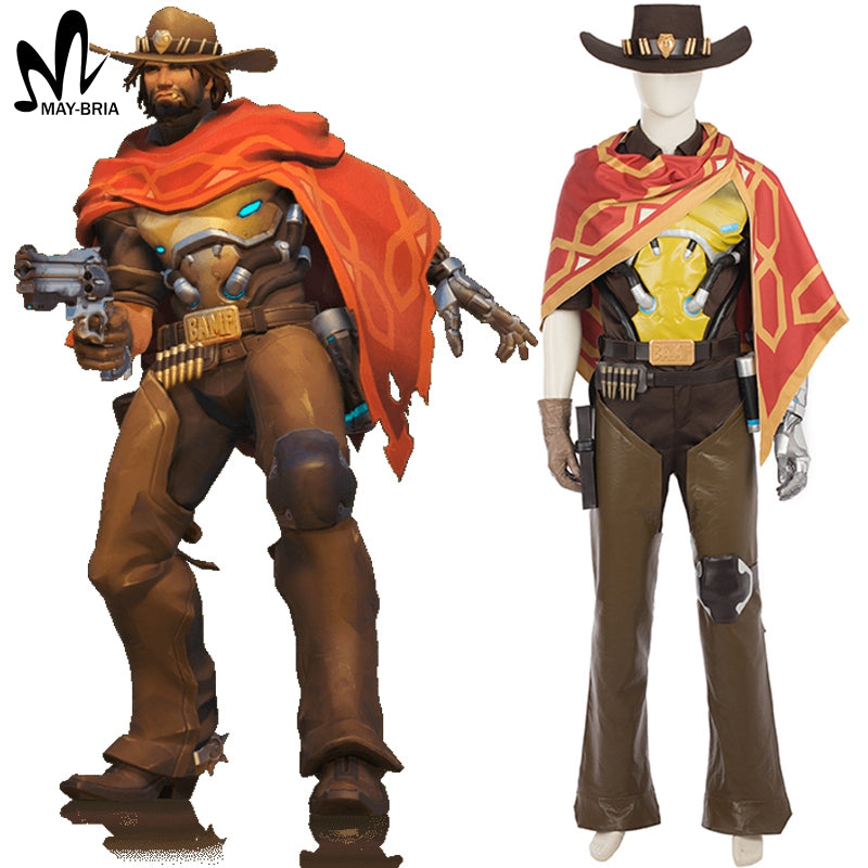 OW Jesse McCree Cosplay costume Halloween costume