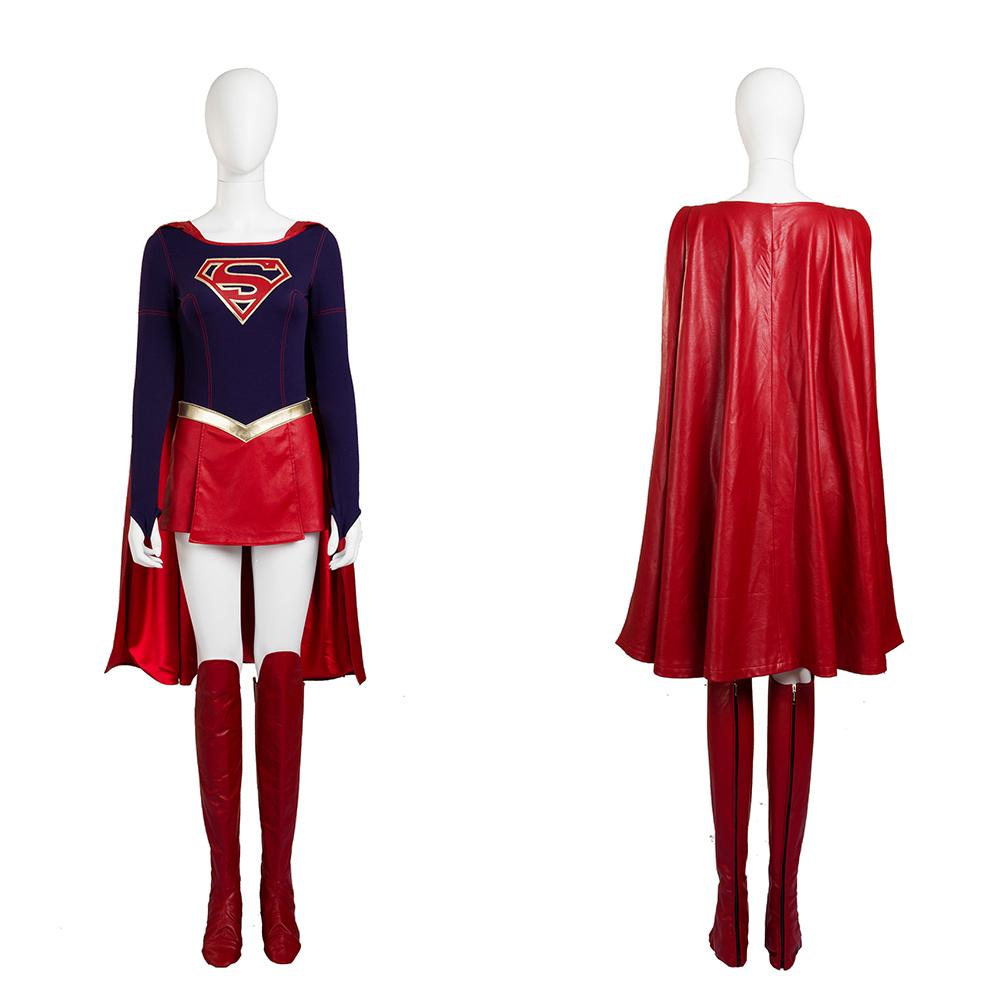 ... Supergirl Costume Women Full Set Supergirl Cosplay Costume with Boots Cover ...  sc 1 st  Coserz & Supergirl Costume Women Full Set Supergirl Cosplay Costume with ...