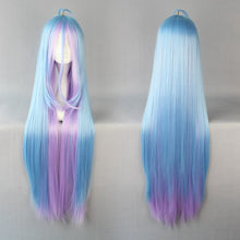 105cm multi-color Long no game no life Shiro Anime Cosplay Costume Wig