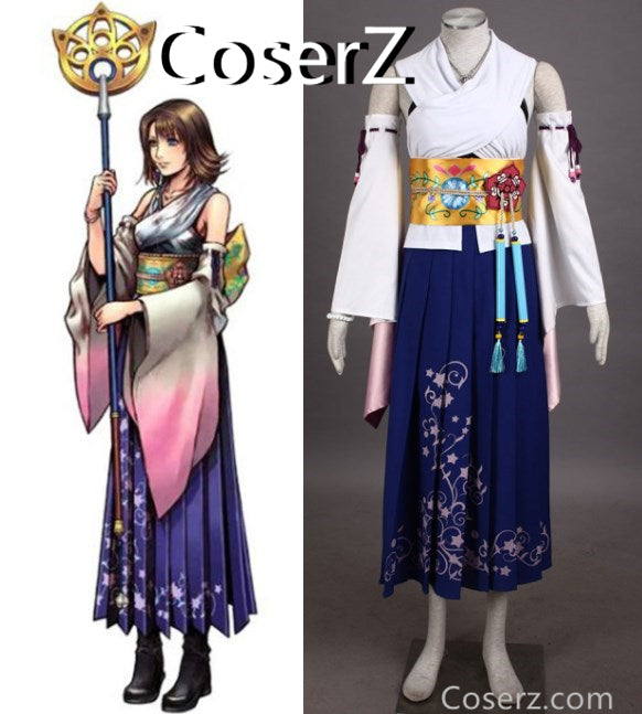 Custom-made Final Fantasy X Yuna cosplay Yuna Costume Halloween Costume