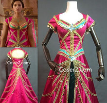 Aladdin 2019 Film Princess Jasmine Red Costume New Outfit