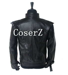 Michael Jackson Costume Leather Thriller Black Jacket Cosplay Costume