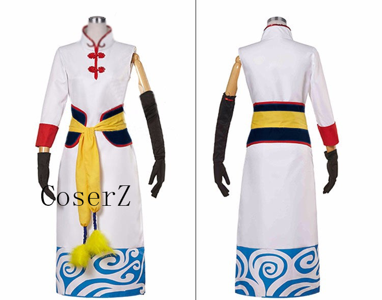 Anime Gintama Silver Soul Palgantong The Future Kagura Uniform Cosplay Costume