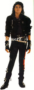 Michael Jackson BAD Jacket Elastic Fabric Coat Cosplay Costume