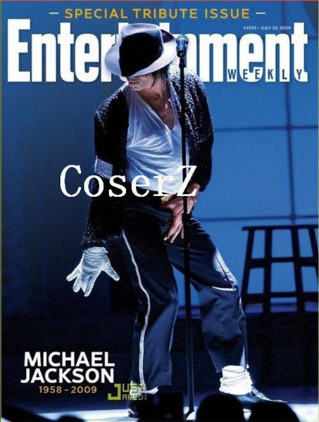 Michael Jackson Billie Jean Jacket+Pant+Socks+Glove+Hat Cosplay Costume