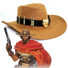 Mccree Cowboy Cosplay Hat Copper Badges