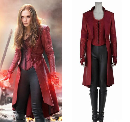 Captain America Civil War Scarlet Witch Costume Wanda Maximoff Cosplay Costume