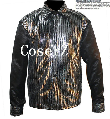 Michael Jackson Billie Jean 25th Motown Sequin Jacket Cosplay Costume