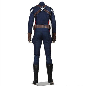 Captain America 2 The Winter Soldier Steve Rogers Cosplay Costume Deluxe Version