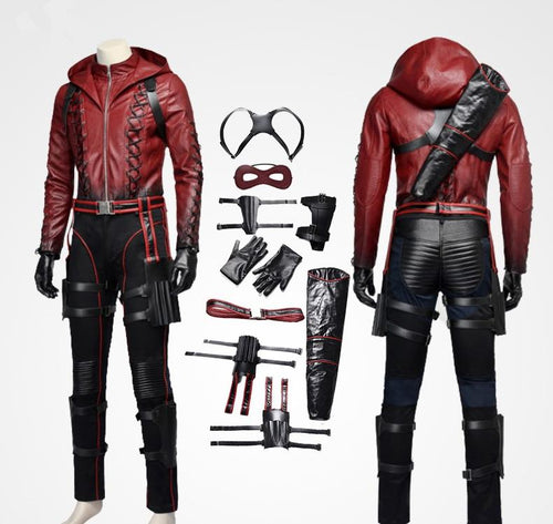 Green Arrow Red Arrow Roy Harper Cosplay Costume