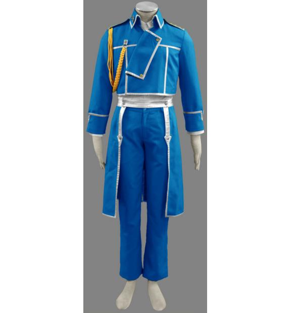 Fullmetal Alchemist Roy Mustang Military Uniform Anime Cosplay Costume